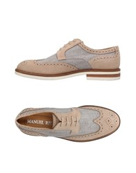 Manuel Ritz Lace Up Shoes Dove Grey