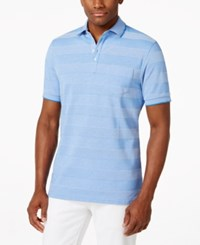 Club Room Birdseye Striped Polo Only At Macy's Palace Blue