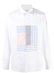 Soulland Patchwork Panel Shirt White