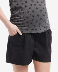 Motherhood Maternity Cargo Shorts Black