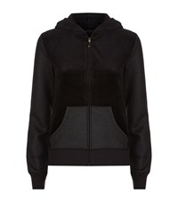 Juicy Couture Love Velour Quilted Hoodie Female Black