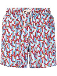 Mc2 Saint Barth Lucky Charm Swim Shorts Blue