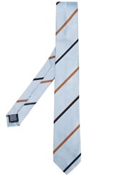 Paul Smith Striped Tie Blue