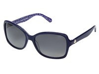 Kate Spade Ayleen P S Blue Pattern Blue Gray Sf Polarized Lens Fashion Sunglasses