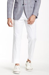 Paisley And Gray White Woven Flat Front Trouser