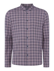 Label Lab Men's Dale Mini Checked Shirt Navy And Pink Navy And Pink