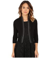 Rsvp Bre Shrug With Stones Black Silver Women's Sweater