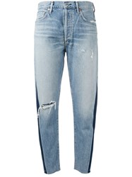 Citizens Of Humanity Liya Faded High Rise Jeans Women Cotton Lyocell 30 Blue