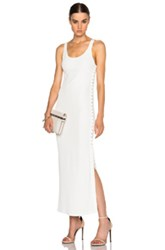 Calvin Klein Collection Fiana Structured Jersey Maxi Dress In White