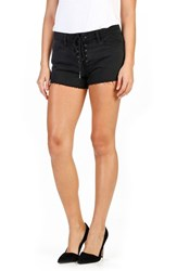 Paige Women's Iris Lace Up Cutoff Denim Shorts