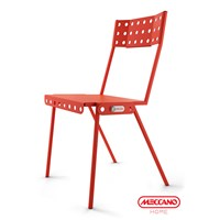 Meccano Home Bistrot Chair Red