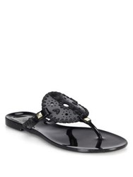 Jack Rogers Luccia Jelly Thong Sandals White Black