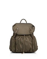 M Z Wallace Mz Marlena Nylon Backpack Clay Gold