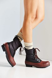 Hunter Quilted Short Lace Up Boot Black Multi