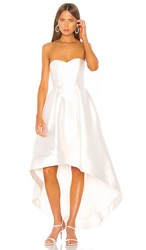 Parker Black Roxanne Gown In White. Ivory