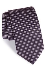 Men's Eton Geometric Silk Tie Navy