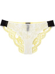 La Perla 'Jazz Time' Brief Yellow And Orange