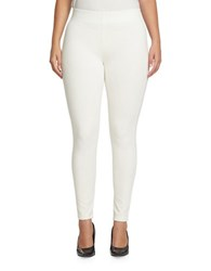 Chaus Solid Slim Fit Leggings New Ivory