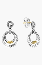 Lagos Caviar 'Superfine' Two Tone Door Knocker Earrings Silver Gold