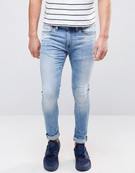 Jack And Jones Regular Jeans In Light Blue Wash Denim Blue