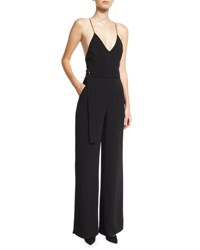 Alexis Zaylee D Ring Belted Camisole Jumpsuit Black