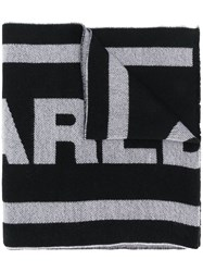 Dsquared2 Logo Knitted Scarf Black