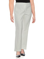 Vince Camuto Plus Size Solid Cotton Trousers New Ivory