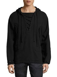 Hudson Ruckus Regular Fit Lace Up Hoodie