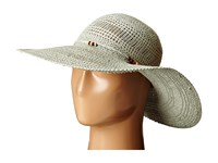 Lauren Ralph Lauren Paper Straw Open Weave Tassel Beach Hat True Sage Traditional Hats White