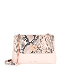 Ted Baker Misti Faux Snake Cross Body Bag Female Neutral