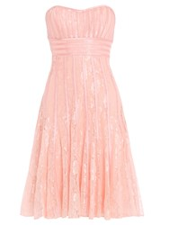 Chase 7 Lace Fitted Midi Dress Pink
