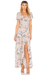 Auguste Scarlett Wrap Maxi Dress Blush