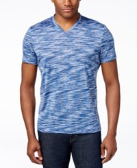 Alfani Big And Tall Tobin V Neck T Shirt Only At Macy's Hyper Blue