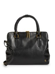 Elliott Lucca Genevieve Leather Satchel Cabernet