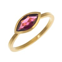 Rhiannon Lewis Jewellery Gold Vermeil And Marquise Rhodolite Garnet Ring Red Gold Pink