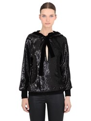 Veronique Branquinho Hooded Sequined Sweatshirt