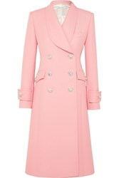 Alessandra Rich Crystal Embellished Wool Cady Coat Pink Gbp