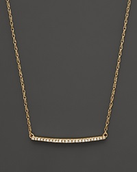 Bloomingdale's Diamond Mini Bar Necklace In 14K Yellow Gold .10 Ct. T.W.