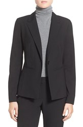 Halogenr Petite Women's Halogen 'Ela' One Button Stretch Suit Jacket Black