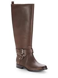 Enzo Angiolini Daniana Leather Riding Boots Dark Brown