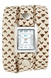 La Mer Textured Leather Wrap Watch 22Mm White