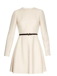 Valentino Long Sleeved Wool And Silk Blend Crepe Dress