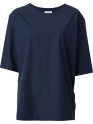 Christophe Lemaire Lemaire 3 4 Sleeve Top Blue