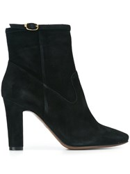 L'autre Chose Almond Toe Boots Black