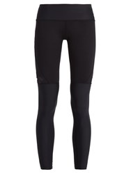 Track And Bliss Star Cut Out Performance Leggings Black