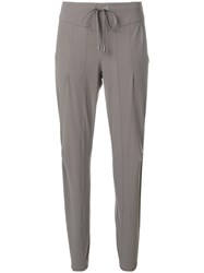 Cambio Drawstring Cropped Trousers Grey