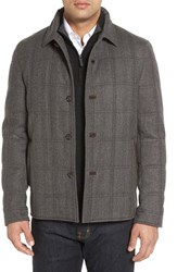 Luciano Barbera Men's 'Historical' Herringbone Wool Blend Coat