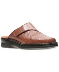 Clarks Women's Patty Tayna Mules Women's Shoes Dark Tan Leather