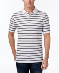 Club Room Men's Big And Tall Striped Polo Only At Macy's Bright White