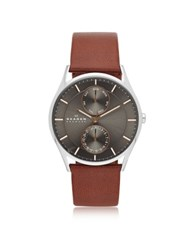 Skagen Holst Multifunction Leather Men's Watch Brown